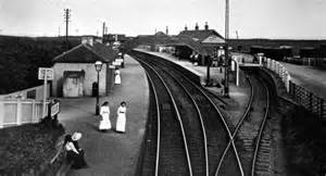 Tour scotland photographs old photograph railway station elie