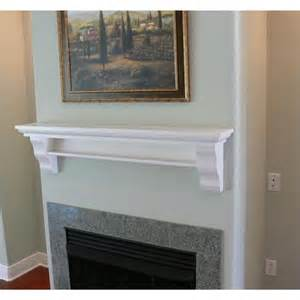 mantel shelf design 143w in poplar painted white from
