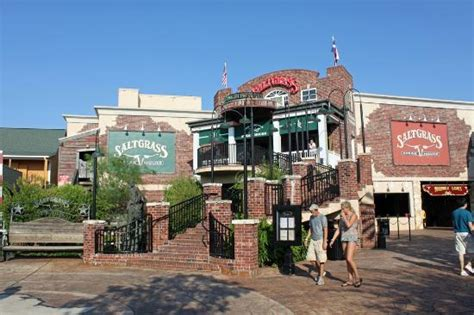 saltgrass steak house kemah tx front entrance stairs with elevator under the green sign