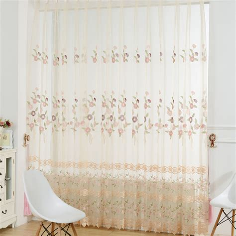 Country Sheer Curtains Country Sheer Curtains With Fresh And Floral Patterns