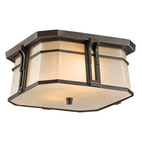 flush mount exterior light kichler lighting 49181oz north creek arts and crafts