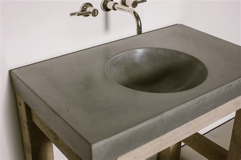 how to make a concrete sink for bathroom orb sink concrete wave design concrete countertops