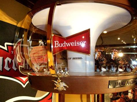 bud light rotating pub sign new motor budweiser clydesdale parade carousel motion