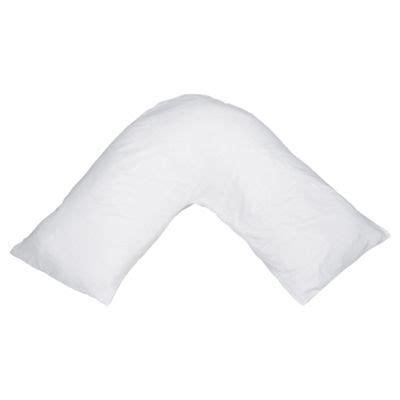 v pillow buy slumberdown v shaped pillow with 2 pillowcases from