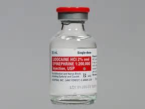 Lidocaine Shelf by Lidocaine With Epi