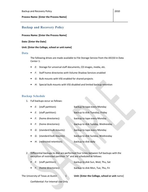backup and recovery policy template backup and recovery policy template doc