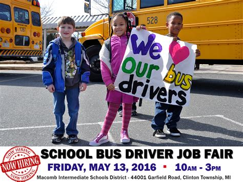 driver job hiring school bus drivers macomb county school bus