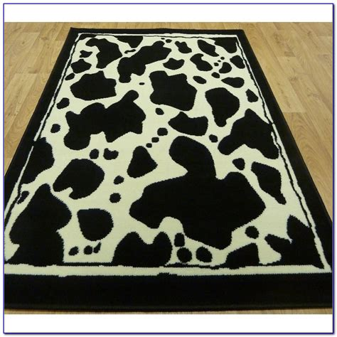 cow area rug cowhide print rug rugs ideas