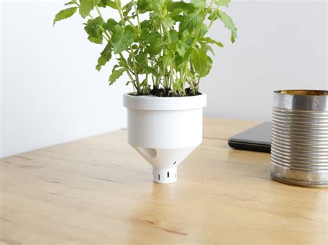 self water planter 3d printed self watering planter cults 3d hubs talk