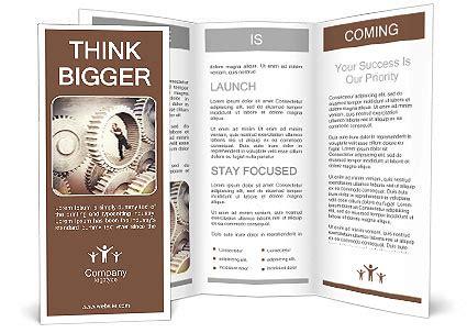 running man in 3d metal gear brochure template design id