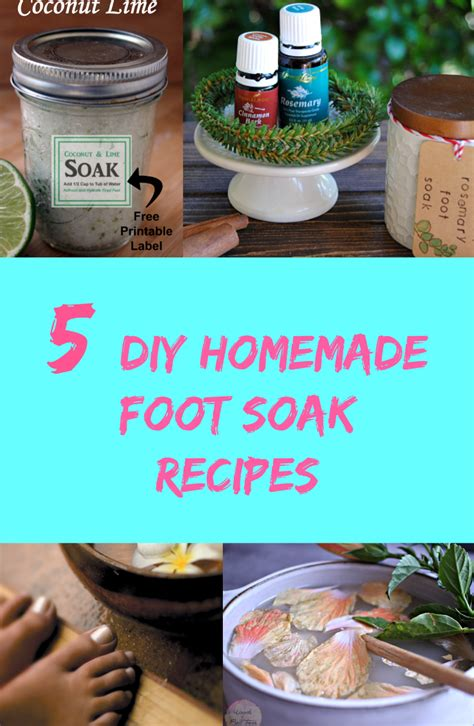 Apple Cider Vinegar Baking Soda Listerine Foot Detox by 5 Diy Foot Soak Recipes Discountqueens