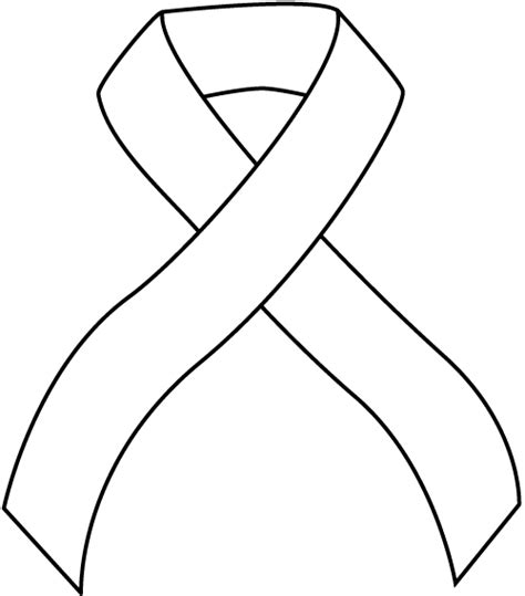 cancer ribbon coloring pages clipart best