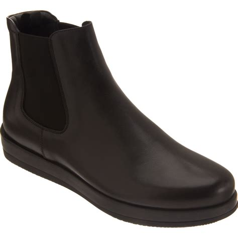 mens chelsea boots prada wedge chelsea boot in black for lyst