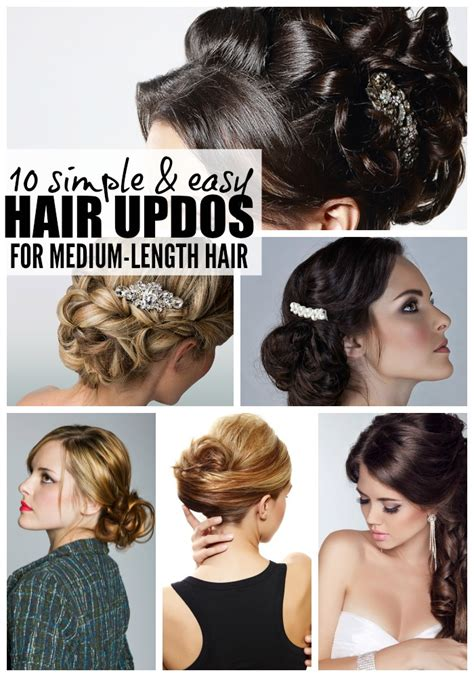 easy hairstyles for medium length hair at home 10 easy glamorous updos for medium length hair