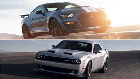2020 Mustang Gt500 Vs Dodge 2020 ford mustang shelby gt500 vs 2019 dodge challenger