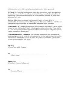 agreement to provide services template website design agreement template