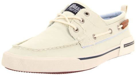 bass boat shoes mens g h bass co bass mens oliver boat shoe in beige for