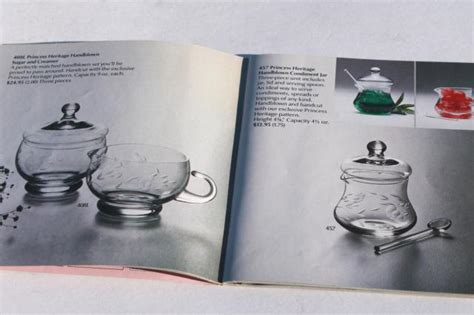 princess house catalog 1983 vintage princess house glass home party catalog glassware patterns photos