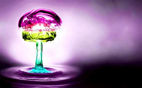 colorful water wallpaper hd water abstract multicolor purple nuclear explosions