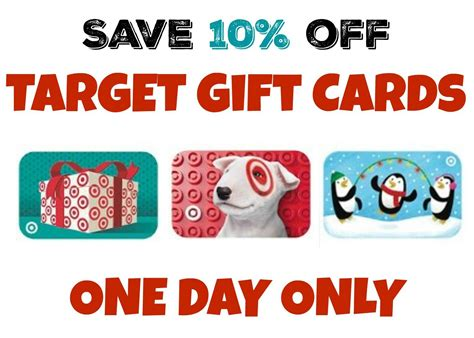 Target Discount Gift Card - target gift card deal save 10 off on december 4 bargains to bounty