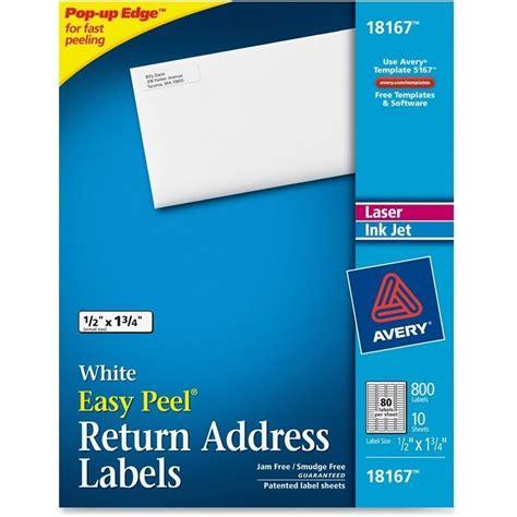 Avery Laser Inkjet Return Address Labels Set Of 80 Ave18167 450 Inkjet Address Return To