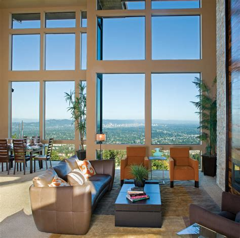 window treatments modern living room los angeles aluminum windows modern living room los angeles by