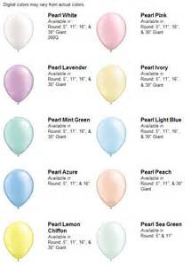 pastel color chart pastel pearls balloon color chart balloon thrills
