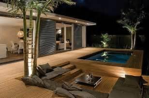 impressive wooden patio deck