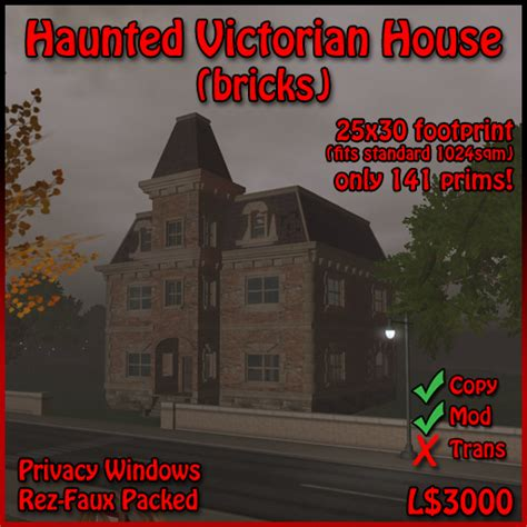 second empire victorian the haunted archetype second life marketplace haunted house haunted second