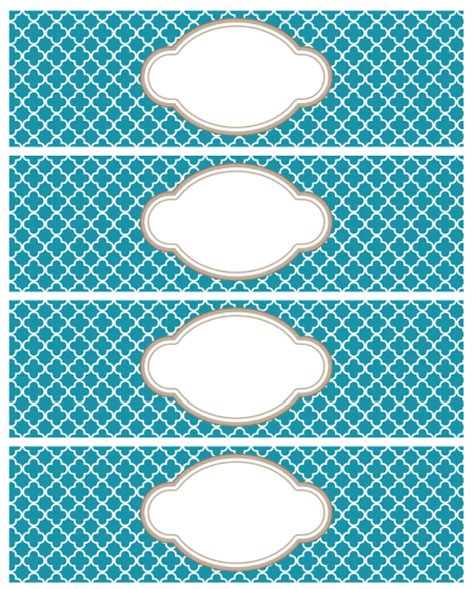 printable moroccan tile designed labels worldlabel blog