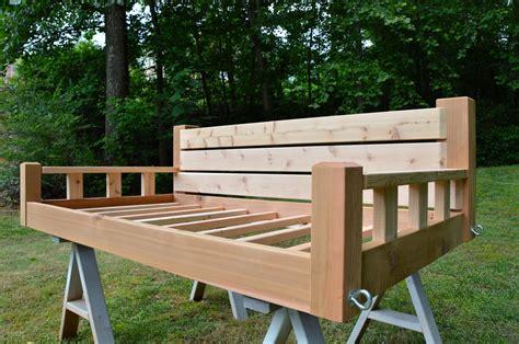 twin bed size porch swing atlanta wooden swings blog