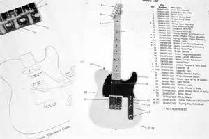 fender squier telecaster   parts list photo