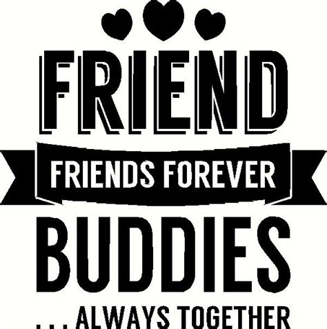 Wall Sticker Wallsticker Forever Friendship Sk7097 friends forever wall sticker vinyl decal the wall works