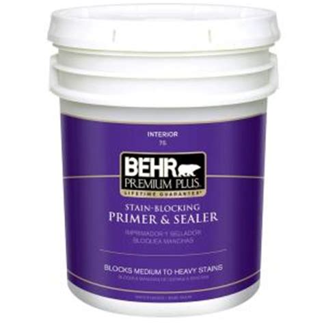 behr premium plus 5 gal interior all in one primer and sealer 07505 the home depot