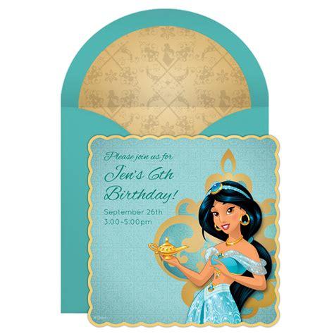 printable jasmine invitations jasmine online invitation disney family
