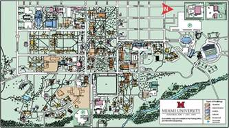 Miami University Map by Miami University Campus Map My Blog