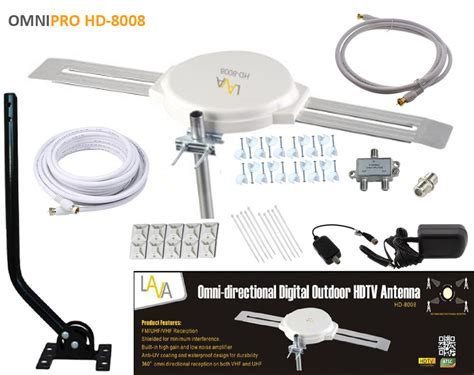 lava omni directional outdoor hdtv vhf tv antenna hd 8008 cable install kit ebay