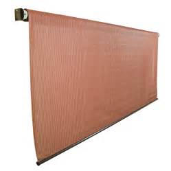 shop coolaroo 72 in w x 72 in l terracotta light filtering pvc exterior shade at lowes com