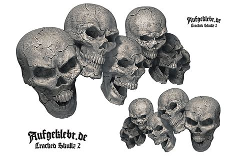 Aufkleber Auto Totenkopf by Skull Totenkopf Aufkleber Skull Autoaufkleber Cracked