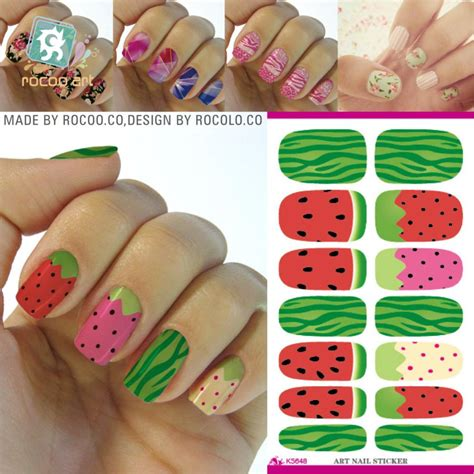 Nail Sticker Manicure Decoration Tatto 6 fashion water transfer nail sticker minx watermelon design nails decoration