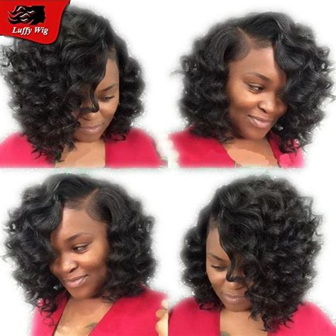 blackwomen short bob body wave hair styles bob deep body wave brazilian virgin human hair wigs for