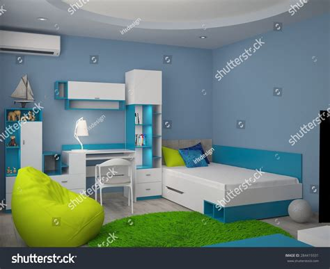 3d rendering nursery interior design stock illustration