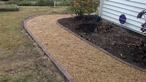 life time pavers pea gravel patio walkways with brick border my style pinterest pea