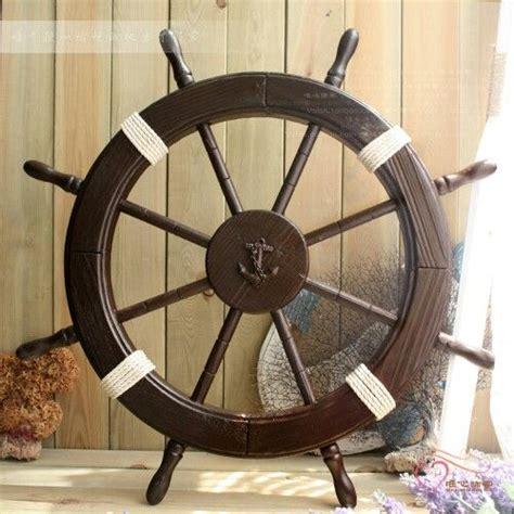 captains wheel seashell decor