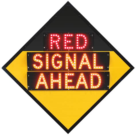 traffic warning lights signal ahead advance traffic light warning road sign