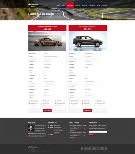 themeforest form automotive car dealership business html template by