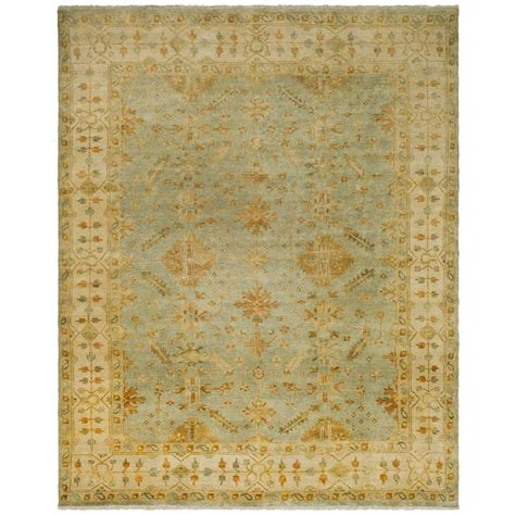 Safavieh Oushak safavieh oushak soft green ivory 6 ft x 9 ft area rug osh141a 6 the home depot