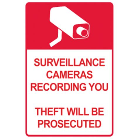surveillance cameras theft will be prosecuted property
