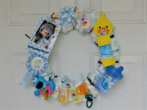 Craft Baby Shower Gifts by Make A Wreath For A Baby Shower Dollar Store Crafts