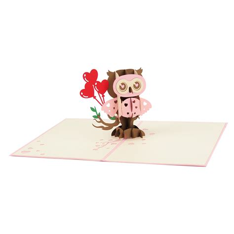 Wholesale Handmade Greeting Cards - owl greeting card wholesale pop up cards